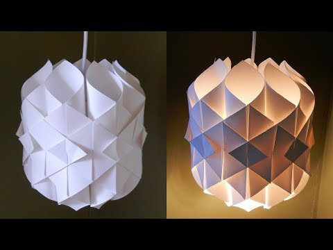 Origami | DIY Paper Lamp/lantern | How to make a paper pendant lamp / light out | Paper crafts
