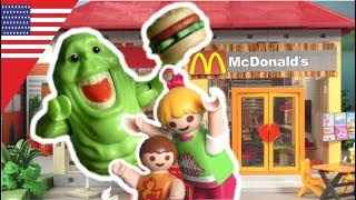 Playmobil english - The Ghostbusters at McDonalds – Kids Film by the Hauser Family