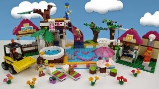 LEGO Friends 2 + Lego City =  Heartlake City Pool build and review movie