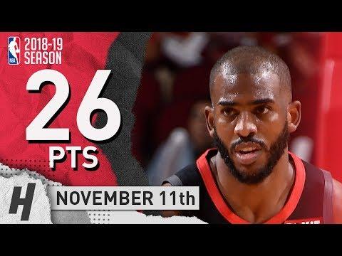 Chris Paul Full Highlights Rockets vs Pacers 2018.11.11 - 26 Pts, 5 Ast, 5 Reb! thumbnail