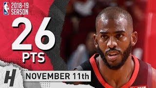 Chris Paul Full Highlights Rockets vs Pacers 2018.11.11 - 26 Pts, 5 Ast, 5 Reb!