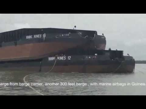 Launches one 300 feet barge from barge carrier,another 300 feet barge