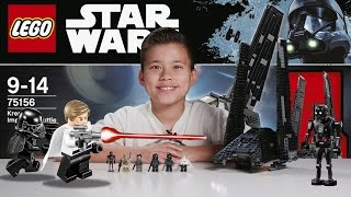 KRENNIC'S IMPERIAL SHUTTLE - LEGO Star Wars ROGUE ONE Set 75156 Time-lapse, Unboxing & Review