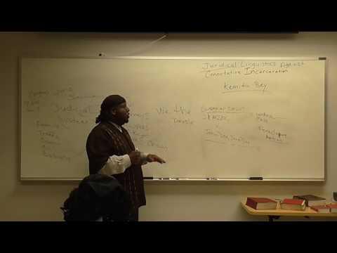 Juridical Linguistics Against Connotative Incarceration Part 1