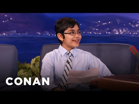 Child Prodigy Tanishq Abraham's Hilarious Science Jokes  - CONAN on TBS
