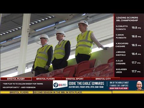 Bristol Sport TV - Steve Lansdown tours the West Stand