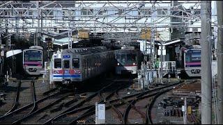 【10倍速】平日朝の京成本線東中山駅付近(字幕入り)