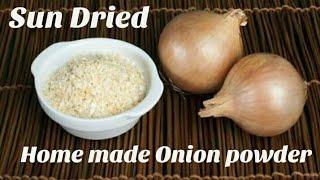 ONION POWDER   Sun Dried Home Made Onion Powder   Hindi Recipe.
