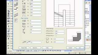 Создание новой лестницы и ее настройка в ArchiCad
