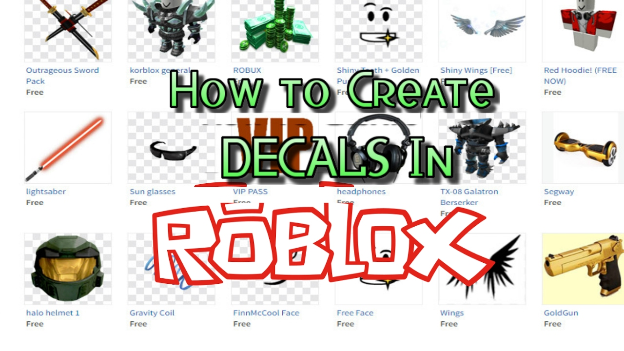 How To Create Custom Decals In Roblox Easy Youtube