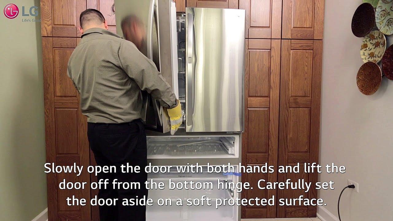 Lg Refrigerator - How To Remove Your Doors  4 Door-french Door