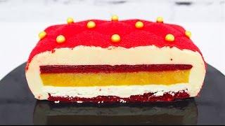 Муссовый торт Подушка Силикомарт / Красный Бархат / Mousse Red Velvet Cake / SilikoMart Matelasse