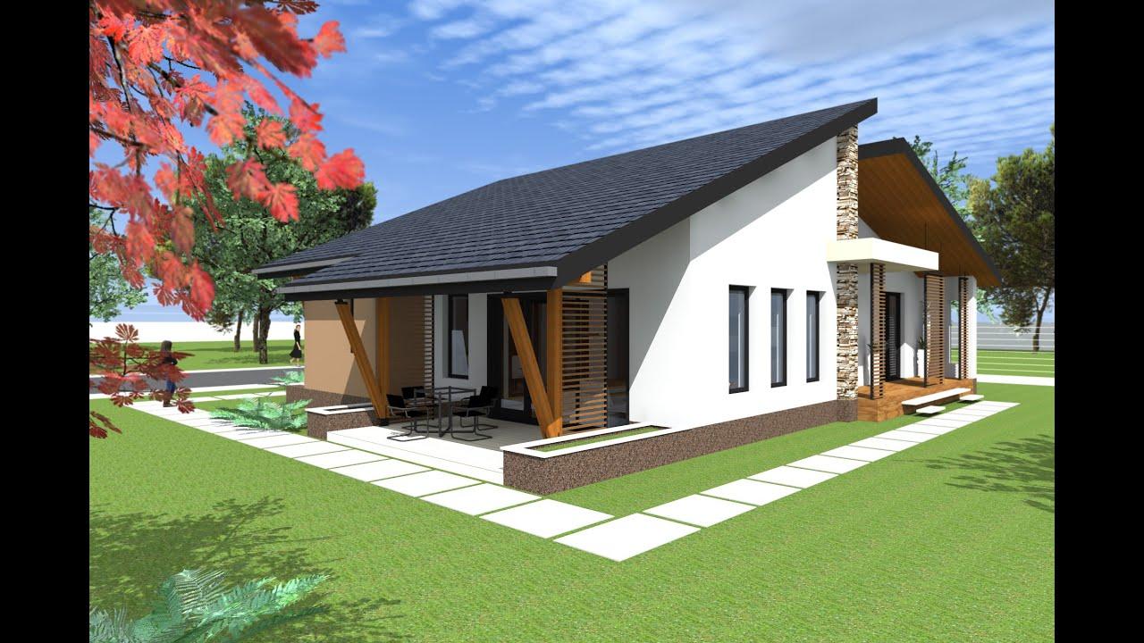 Casa parter cu 3 dormitoare proiecte case arad arh dani for Case parter 3 camere