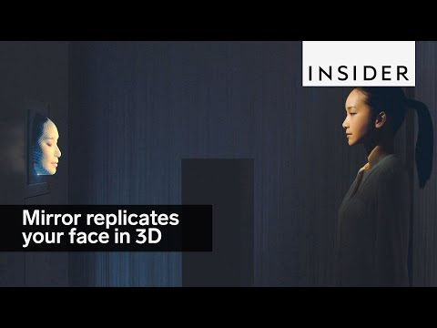 This mirror replicates your face in 3D