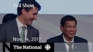The National for Tuesday November 14, 2017 - Catfishing, peacekeeping, harassment