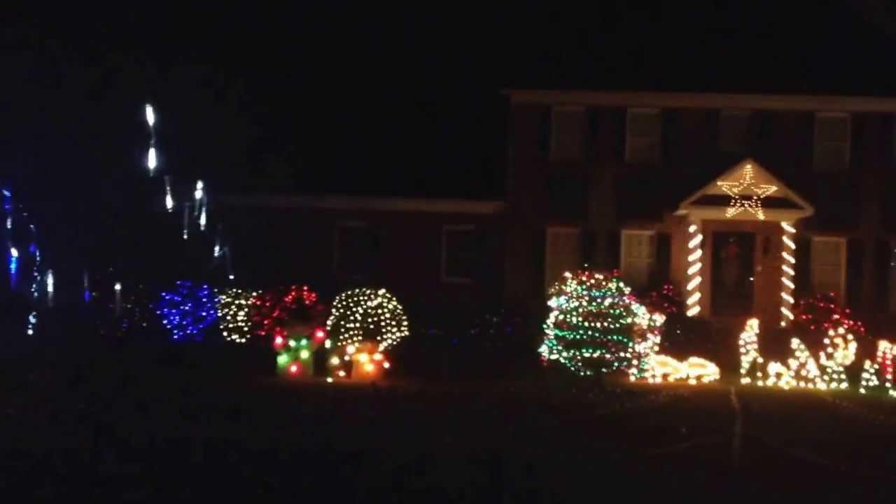 Graham Christmas lights at Randy McMasters - YouTube