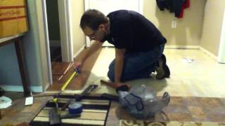 Laminate install from Costco - time lapse