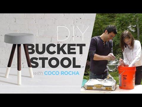 Coco Rocha makes a DIY bucket stool