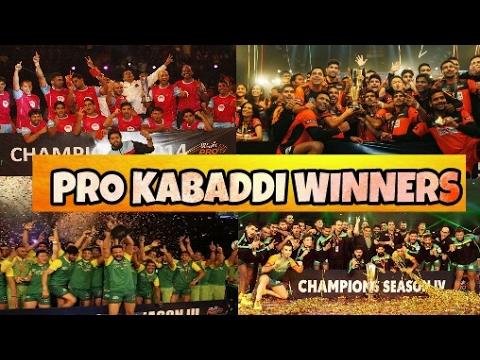 Pro kabaddi Winners List of All Season 1 , 2 , 3, 4& 5 Winning Amount| Patna Pirates Hat-trick