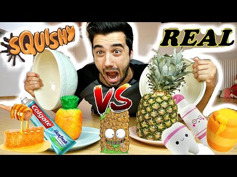 SQUISHY FOOD vs. REAL FOOD 3 !! (CRAZY CHALLENGE)