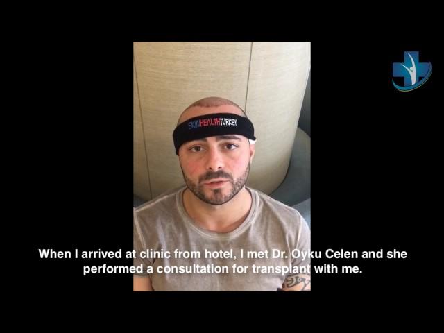 Hair Transplantation Turkey - Mr. Domenico G. Testimonial - Skin Health Turkey / Dr. Oyku Celen