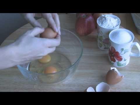 Яблочный пирог,рецепт бисквит