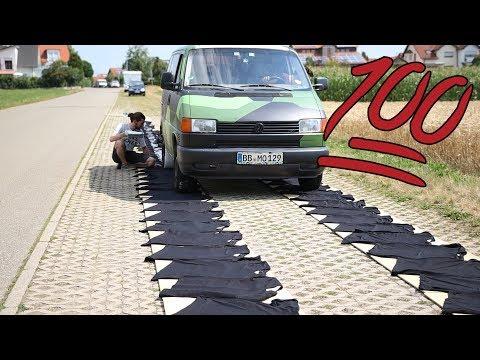 MIT DEM BUS ÜBER 100 T-SHIRTS FAHREN   100K Abo Special