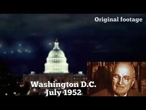 Flotilla of UFO's Pass Over Washington D.C. July 1952.