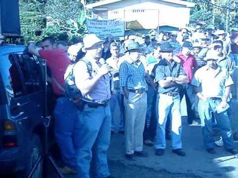 Protesta caficultores de los Santos contra C.C.S.S