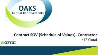 Erstellen Vertrag Zeitplan der Werte (SOV)- Auftragnehmer, K-12 Cloud