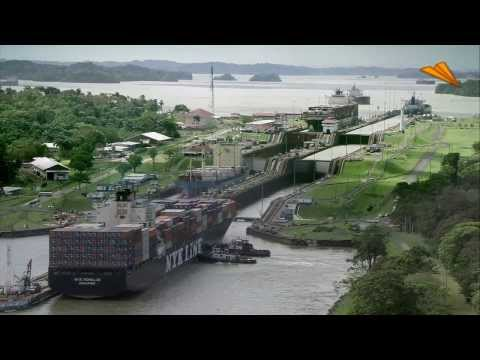 The Panama Canal. Tourist attraction in Panama