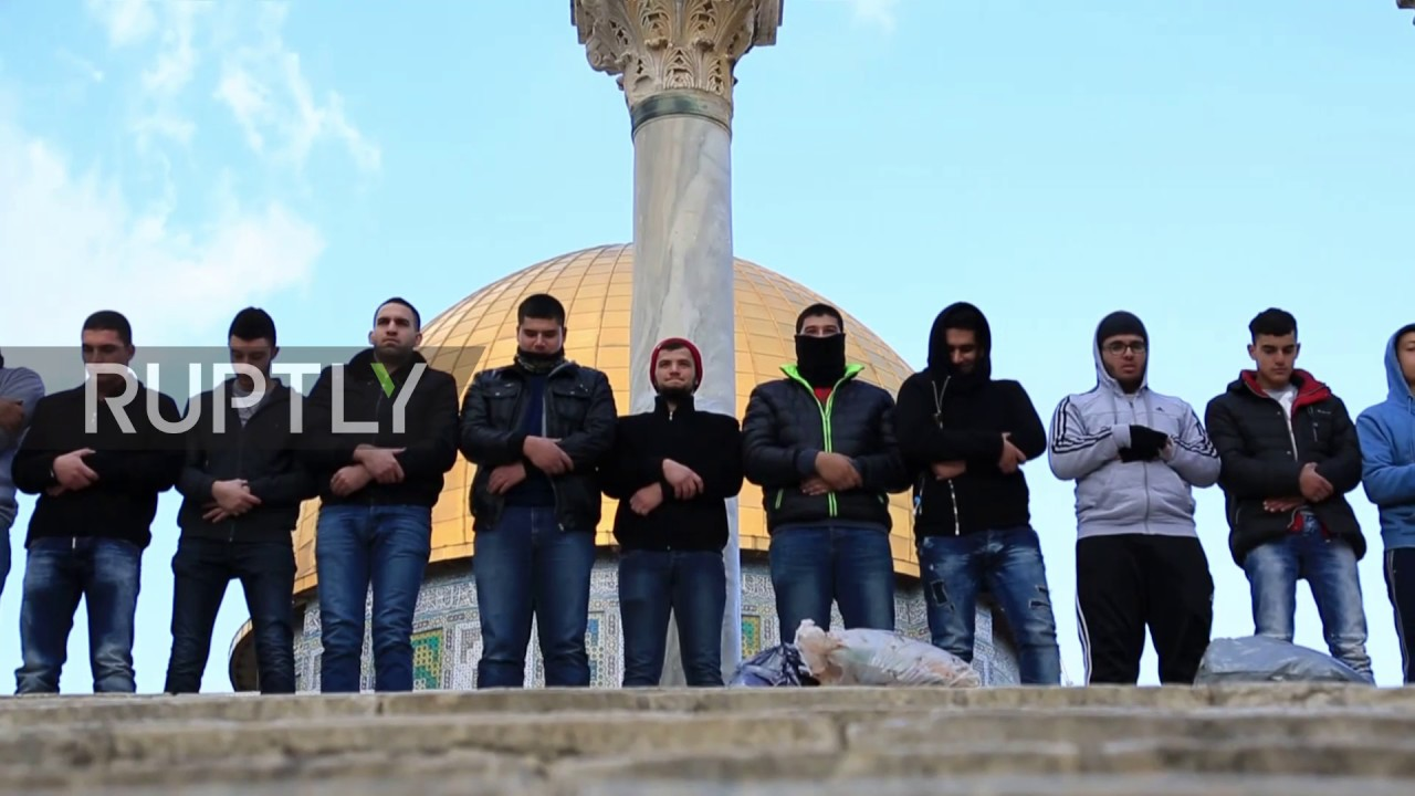 State of Palestine: Palestinians pray at Al-Aqsa to protest possible US embassy relocation
