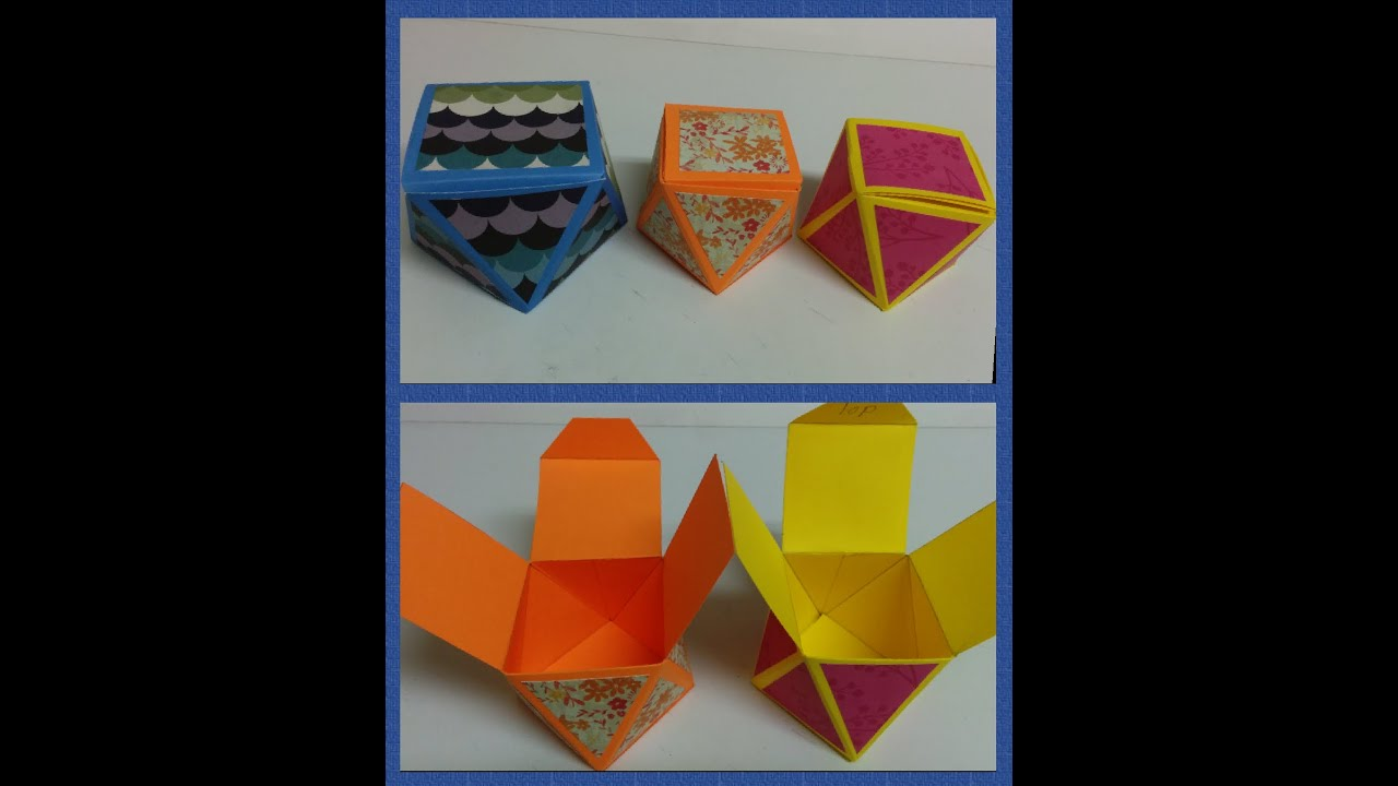 Art and craft how to make diamond faceted gift box youtube for How to make craft
