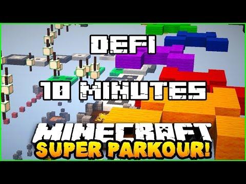 MINECRAFT - DÉFI 10 MINUTES !!! Jump et parcours