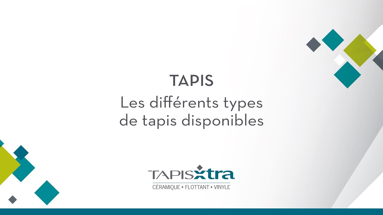 Tapis les diff rents types de tapis disponibles youtube - Les differents types de tapis ...