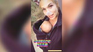 Patricia Montero da un paseo matutino con su hija Layla