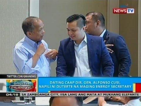 Dating CAAP Dir. Gen. Alfonso Cusi, napili ni Duterte na maging energy secretary