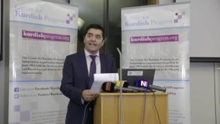 Ibrahim Dogus speaking at Newroz Reception