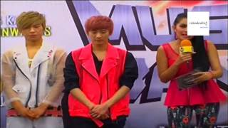 road to music bank live jakarta 2013 - teen top ( interview )