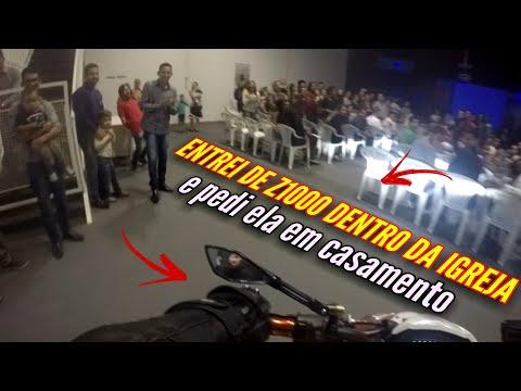 PEDIDO DE CASAMENTO SURPRESA - ENTREI DE Z1000 SO O CANO NA IGREJA