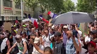Manifestation anti pass sanitaire à Marseille