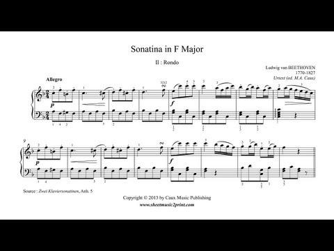 Beethoven : Sonatina in F Major, Anh. 5 - Rondo