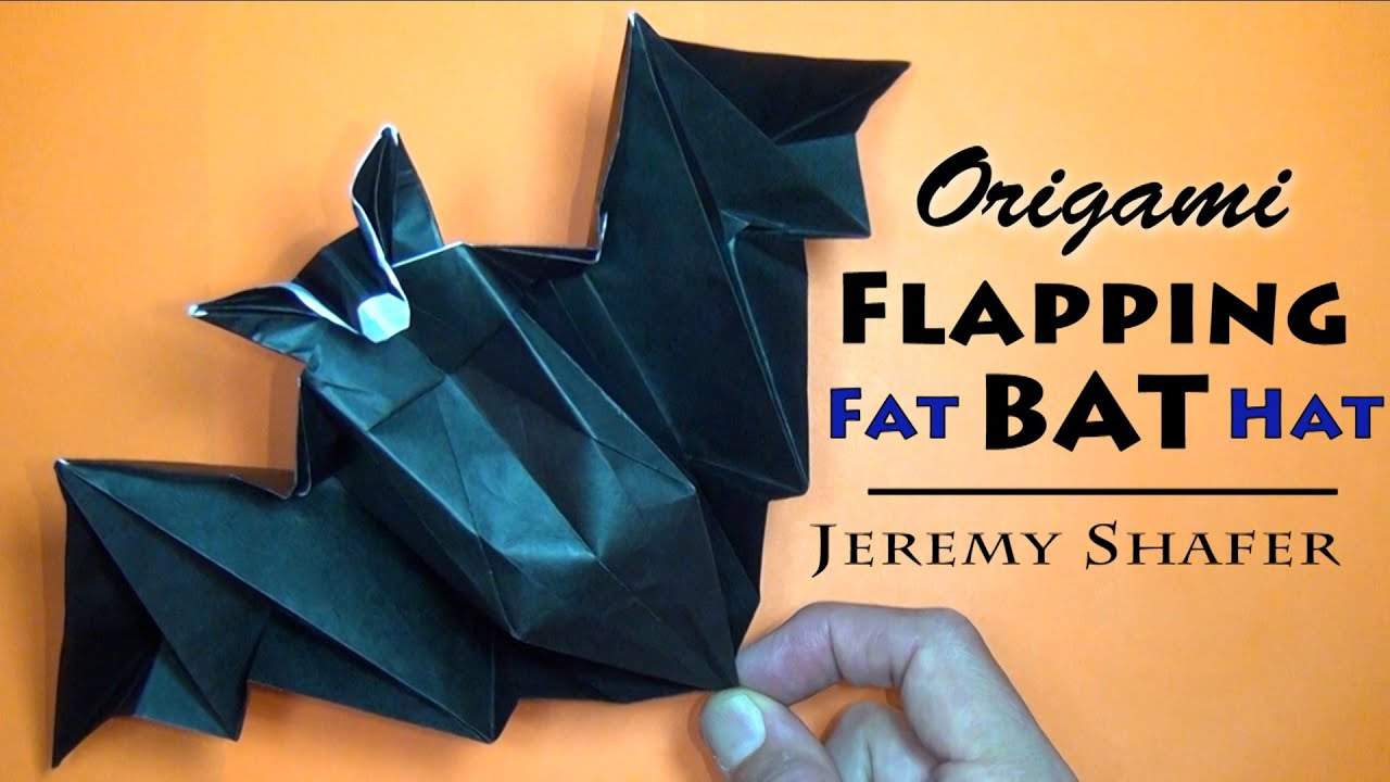 Origami Flapping Fat Bat Hat