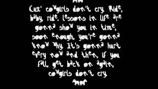 brooks and dunn cowgirls don t cry lyrics