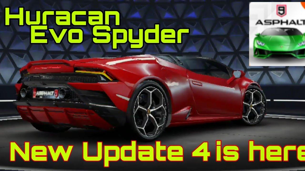 Asphalt 9 Update 4 Is Here Lamborghini Huracan Evo Spyder Youtube