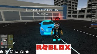 Driving a corvette in Roblox