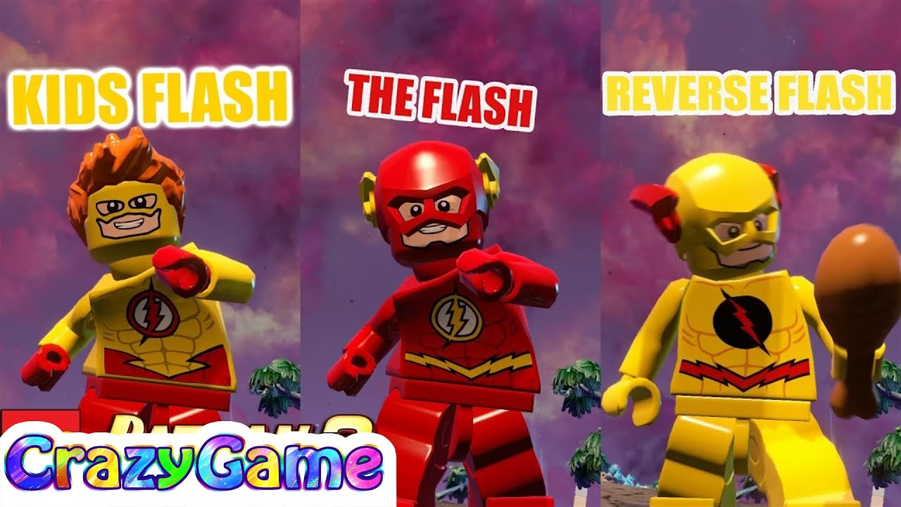 LEGO The Flash, Kid Flash, Reverse Flash Free Roam - LEGO ...