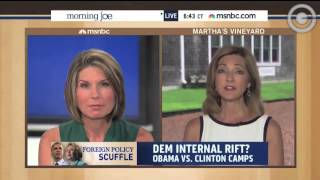 MSNBC's Chris Jansing:  Obama Camp Calls Clinton Criticism 'Unseemly'