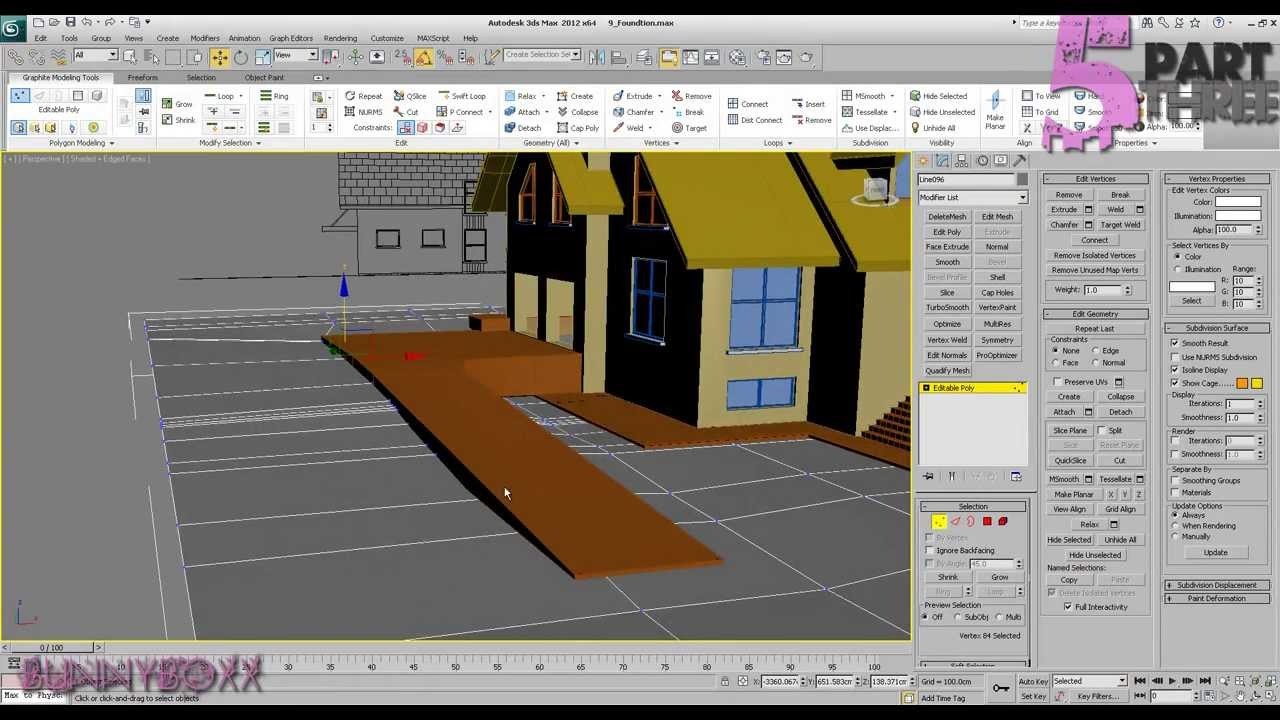 Front Elevation In 3ds Max : Ds max exterior modeling a complete house part p