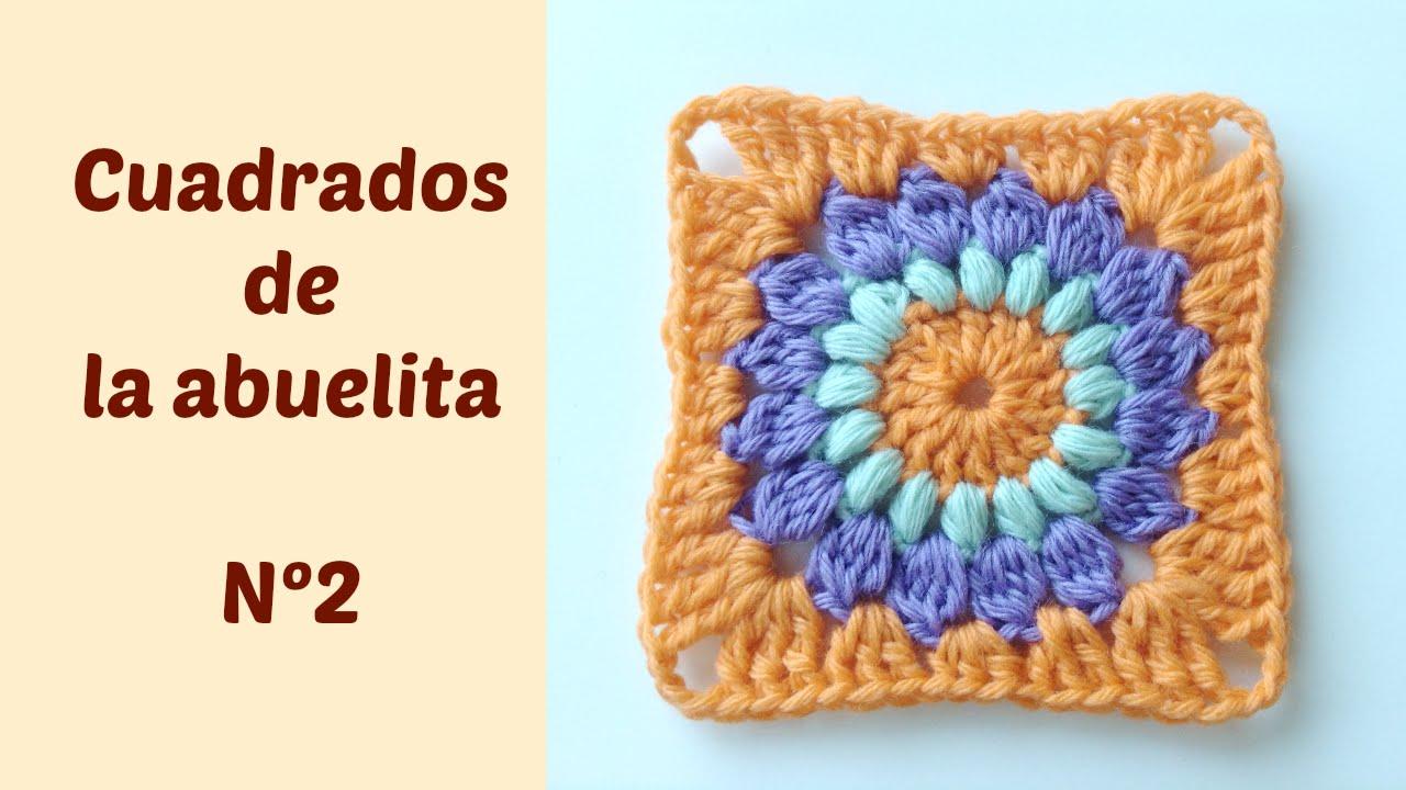 Vistoso Patrón De Crochet Libre Cuadrado Hexágono Abuela Motivo ...